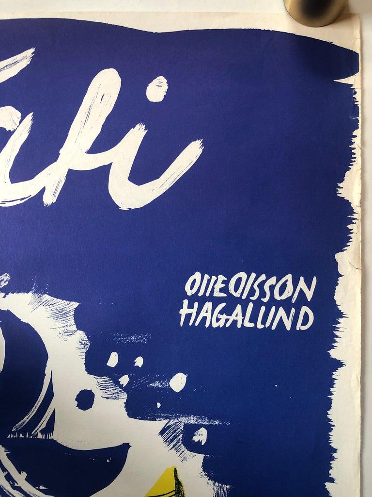 'Mon Oncle' Original Vintage Movie Poster, Swedish, 1959 For Sale 2
