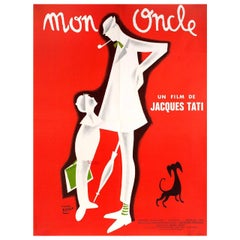 Mon Oncle R1960s French Moyenne Film Poster