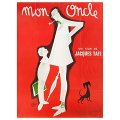 Mon Oncle R1970s French Grande Film Poster