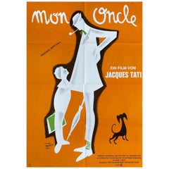Mon Oncle R1970s German A1 Film Poster