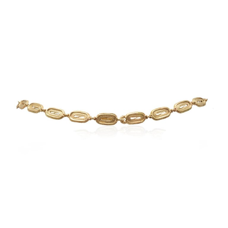 Mon Pilar Jewelry Roma Necklace in 14 Karat Yellow Gold For Sale 1