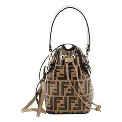 Mon Tresor Bucket Bag Zucca Embossed Leather Mini