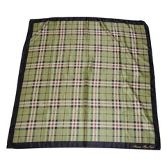 """Monaco - Monte Carlo """"Shades of Olive Plaids With Black Border Scarf"""