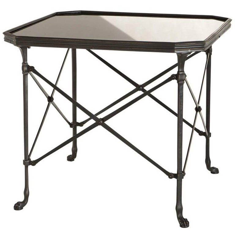 Monaco Side Table in Bronze Highlight Finish or Nickel Finish