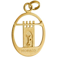 Monaco YPO 14 Karat Yellow Gold Charm