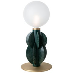 Monarch Table Lamp with Glass Dome, Carla Baz