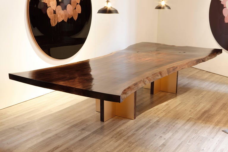 Contemporary Monarch Extra Large Slab Dining Table by Studio Roeper For Sale