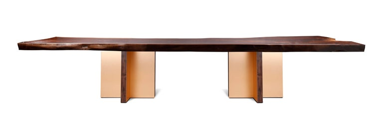 Monarch Extra Large Slab Dining Table by Studio Roeper For Sale 2