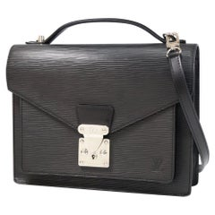 Monceau28  unisex  handbag M52792  noir Leather