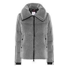 Moncler Bandama Metallic Jersey Quilted Down Jacket