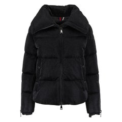 Moncler Bandama Metallic Quilted Jersey Down Jacket