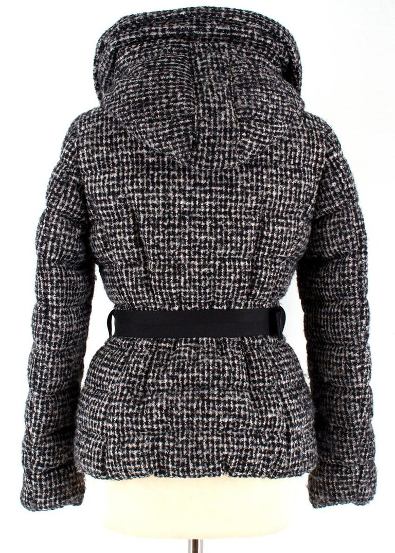 a6c139073 Moncler Black and White Tweed Down Jacket Moncler 00