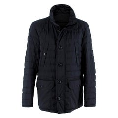 Moncler Black Dartmoor Quilted Down Coat - Size Large (3)