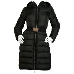 Moncler Black Fabrefur Hooded Down Coat w/ Detachable Fur sz 1/S rt. $1,775