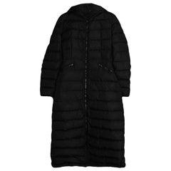 Moncler Black Flammong Long Puffer Coat sz 1/ Small