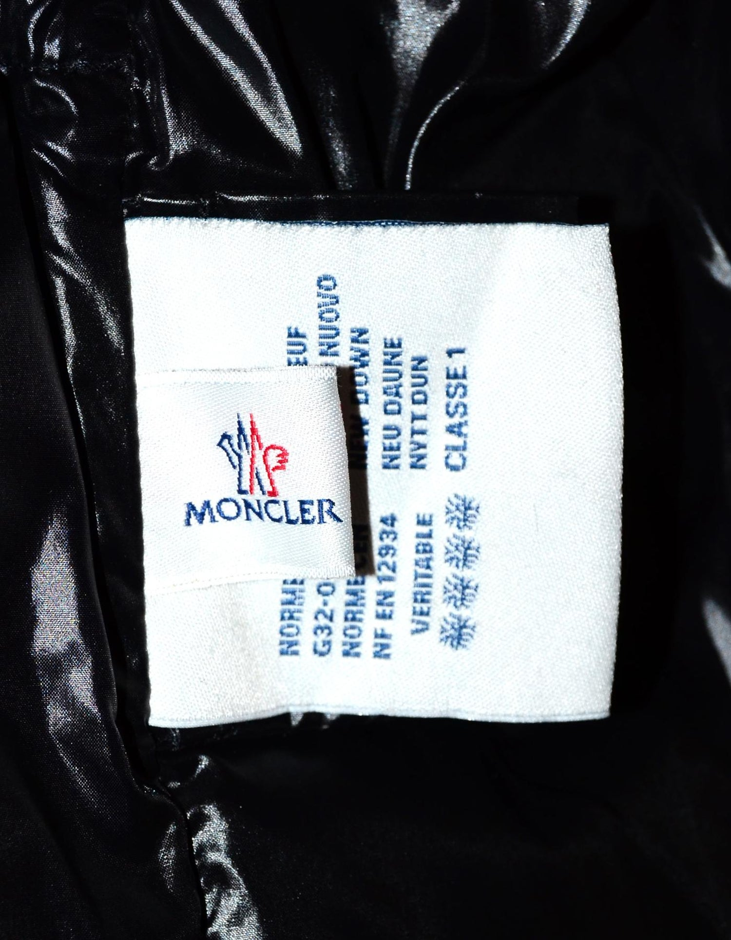 a352dd787 Moncler Black Ghany Shiny Quilted Puffer Vest Sz 4/XL