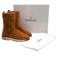 Moncler Brown Gaby shearling-lined Boots - Size EU 41
