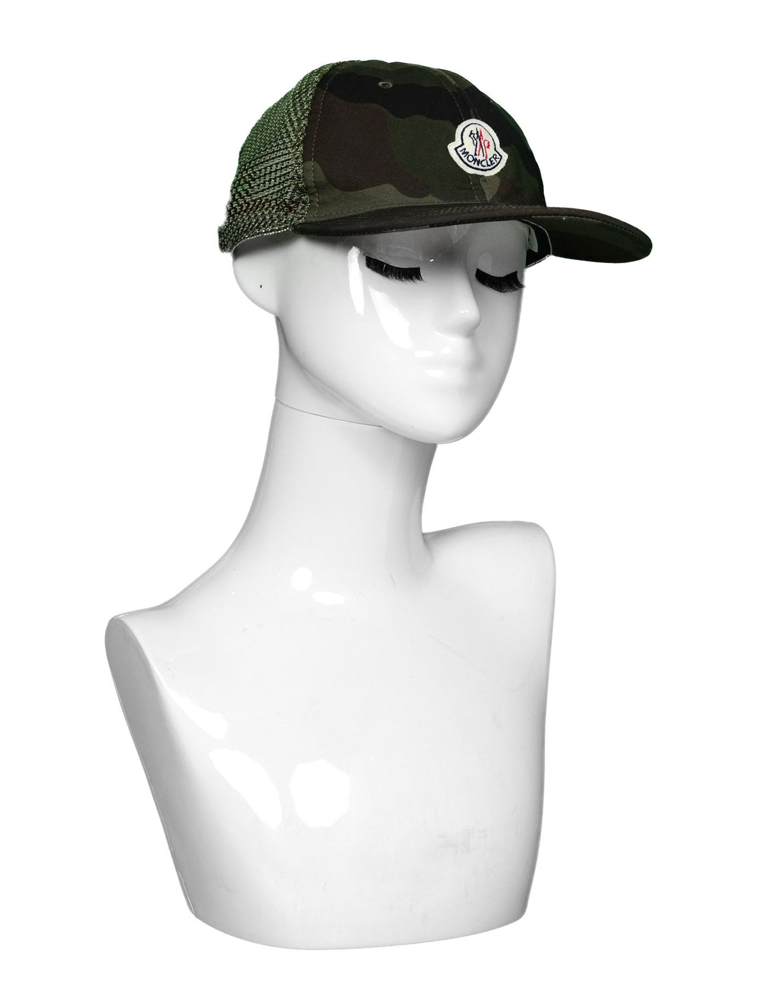Moncler Camouflage Woven Baseball Cap Hat For Sale at 1stdibs 103c64f2a90