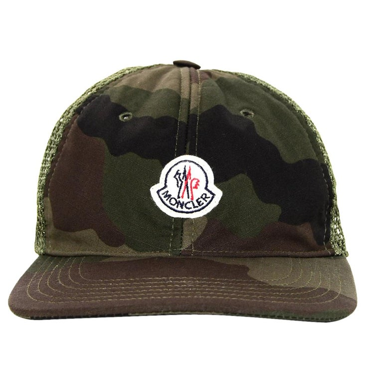 Moncler Camouflage Woven Baseball Cap Hat For Sale at 1stdibs 6bb98559a70