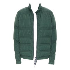 MONCLER Cheriton Giubbotto green down feather padded puffer winter jacket US3 L