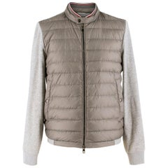 Moncler contrast-panel quilted down jacket estimated size S