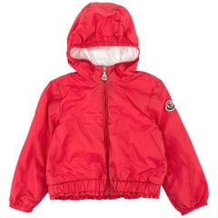 Moncler Dark Pink Hooded Kids Jacket - 2 Years