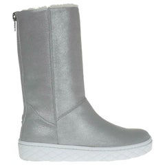 Moncler Faux Shearling Lined Leather Boots