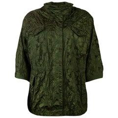 Moncler Green Tatin Lace Eyelet 3/4 Sleeve Jacket sz 2