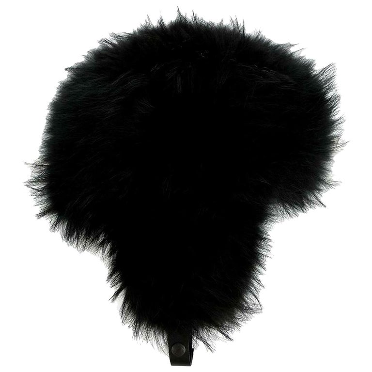 Moncler Grenoble Fox Fur Trimmed Trapper Hat For Sale