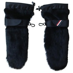 Moncler Grenoble Rabbit-Fur Trimmed Ski Gloves