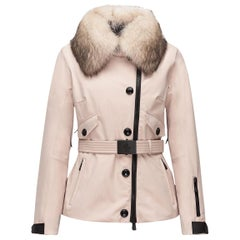 Moncler Grenoble Sappey Down Fur-Trim Jacket