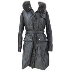 Moncler grey with fur jacket / coat