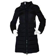 Moncler Herisse Navy Down Puffer Coat w/ Knit Inserts sz 00/ XXS