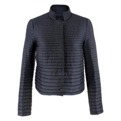 Moncler Lans Navy Lightweight Quilted-Down Jacket SIZE 0