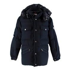 Moncler Navy Vilbert Hooded Padded Jacket - Us Size 34