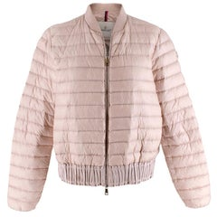 Moncler Pink Quilted Down Jacket - Size US 2