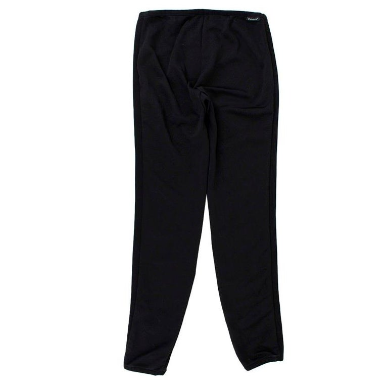 Black Moncler Ribbed Skinny Trousers	 XS