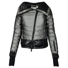 Moncler Silver Down Puffer Jacket sz 0