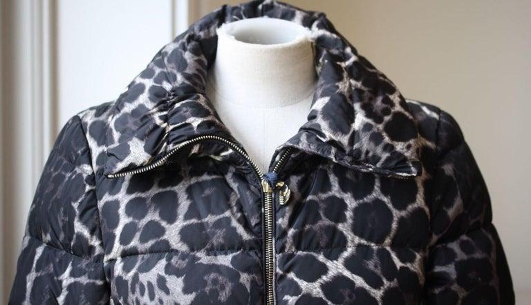 Black Moncler Torcelle Leopard-Print Puffer Jacket