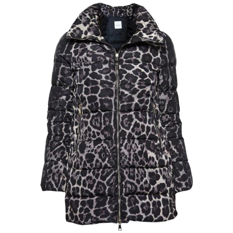 Moncler Torcelle Leopard-Print Puffer Jacket