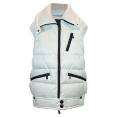 Moncler White Grenoble Down Vest