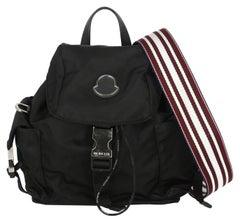 Moncler Women  Backpacks Black Synthetic Fibers