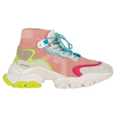 Moncler  Women   Sneakers  Multicolor, Pink, White Synthetic Fibers EU 38