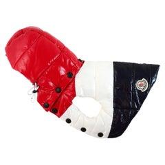 Moncler x Poldo Dog Couture Mondog Nylon Laque Vest W/ Removable Hood Sz 0