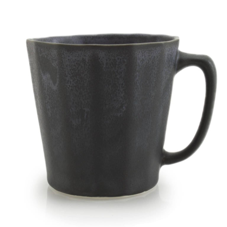 Matte black Monday Mug, set of four -That mug you can't put down and is always there when you wake up - a special collaboration with Shannon Tovey and Nick Moen. The Monday Mug is the coffee or tea lovers dream. The Monday Mug is a unique mug design