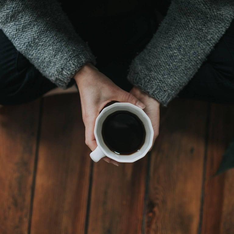 Monday Mug Matte Black Set of Four Coffee Mug Contemporary Glazed Porcelain For Sale 3