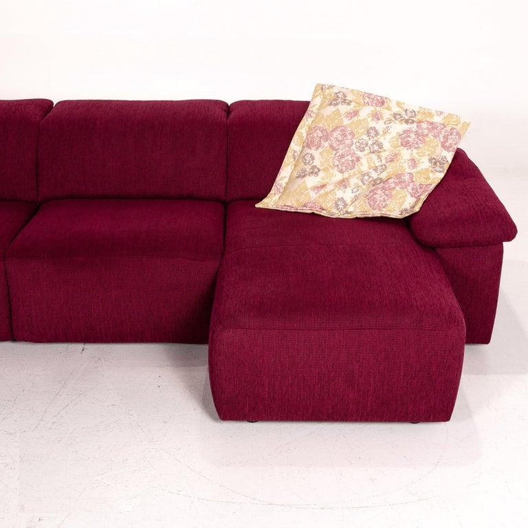 Mondo Fabric Corner Sofa Electrical Function Purple Berry Relax Function Sofa 4
