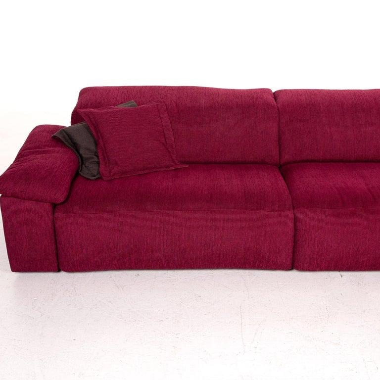 Mondo Fabric Corner Sofa Electrical Function Purple Berry Relax Function Sofa 5
