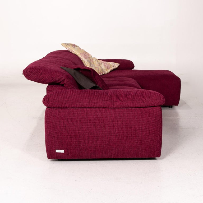 Mondo Fabric Corner Sofa Electrical Function Purple Berry Relax Function Sofa 6