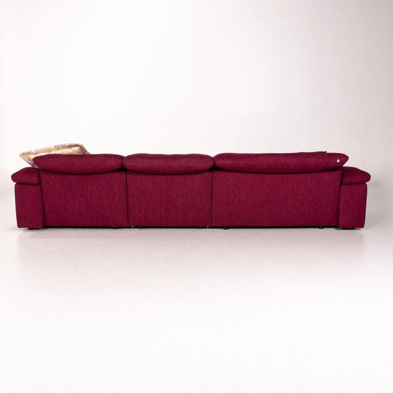 Mondo Fabric Corner Sofa Electrical Function Purple Berry Relax Function Sofa 7